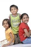 Família feliz das crianças Fotos de Stock Royalty Free