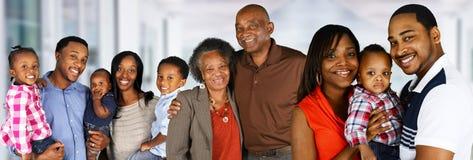 Família feliz do americano africano fotografia de stock royalty free