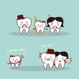 Família feliz do dente dos desenhos animados Imagem de Stock Royalty Free