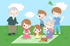 Família feliz dos desenhos animados Fotografia de Stock