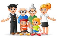 Família feliz dos desenhos animados Fotos de Stock