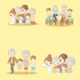 Família feliz dos desenhos animados Imagens de Stock Royalty Free