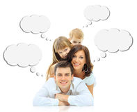 Família feliz isolada Imagem de Stock Royalty Free