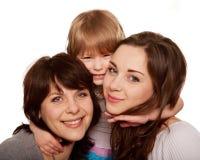 Família feliz, mãe e duas filhas Foto de Stock