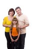 Família feliz. Matriz, pai e filha foto de stock