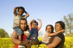 Família feliz na natureza Foto de Stock