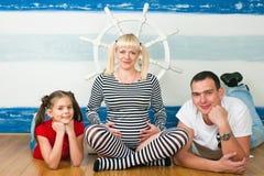 Família feliz que espera a segunda criança Imagens de Stock Royalty Free