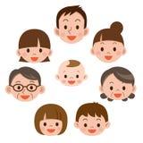 Família feliz todos sorriso ilustração do vetor