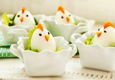 Família fervida dura do ovo da galinha Fotos de Stock Royalty Free