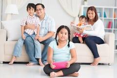 Família filipina feliz Foto de Stock Royalty Free