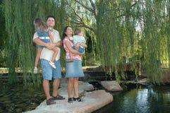 Família futura Foto de Stock