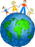 Família global ilustração royalty free