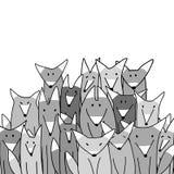 Família grande do lobo, esboço para seu projeto ilustração royalty free