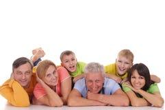 Família grande feliz fotos de stock royalty free