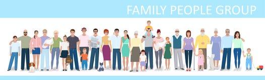 Família grande, ilustração do vetor Foto de Stock Royalty Free