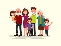 Família grande junto Ilustração do vetor Imagem de Stock