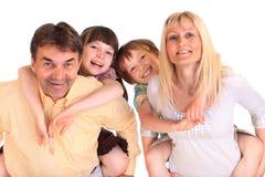 Família jovial imagens de stock royalty free