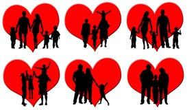 Família Loving ilustração do vetor