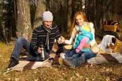 Família, mãe, pai e filha felizes foto de stock