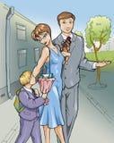 Família. Mather, pai e menino. ilustração stock