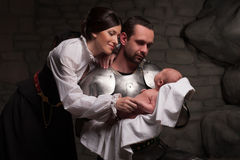 Família medieval feliz Imagens de Stock Royalty Free