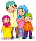 Família muçulmana ilustração do vetor