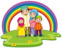 Família muçulmana ilustração stock