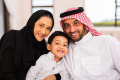 Família muçulmana junto imagens de stock royalty free
