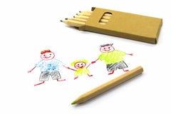 Família não-tradicional ilustração do vetor