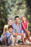 Família na caminhada do país Fotografia de Stock Royalty Free