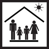 Família na casa Imagem de Stock Royalty Free