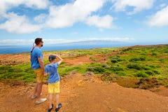 Família na ilha do lanai foto de stock royalty free