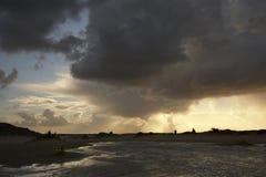Família na tempestade Foto de Stock Royalty Free