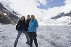 Família nas Montanhas Rochosas Imagens de Stock Royalty Free