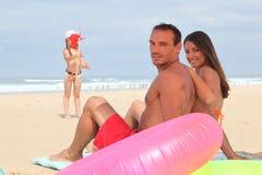 Família no beira-mar Foto de Stock Royalty Free