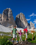 Família no hike Imagem de Stock