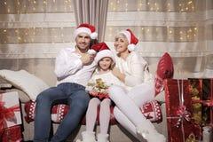Família no Natal Fotografia de Stock Royalty Free
