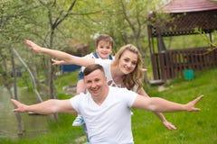 Família no piquenique Fotografia de Stock Royalty Free