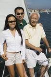 Família no sailboat Foto de Stock Royalty Free