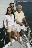 Família no sailboat Imagens de Stock Royalty Free