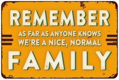 Família normal Tin Sign Fun imagens de stock