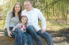 Família nova bonita fotos de stock