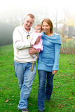 Família nova com bab Imagem de Stock