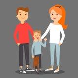 Família nova do pai, da mãe e do filho Imagens de Stock Royalty Free