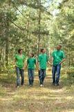 Família nova feliz Fotografia de Stock