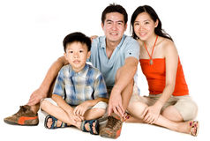 Família nova junto fotografia de stock royalty free