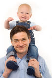 A família - pai e criança Fotos de Stock Royalty Free