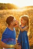 Família Pai e filha fotografia de stock