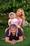 Família, pai, mãe e bebê felizes imagens de stock royalty free