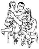 Família quatro Foto de Stock